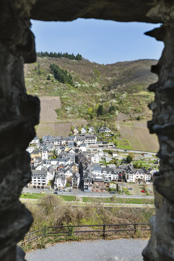 Rockowy okno I Moselle dolina, Niemcy obrazy stock