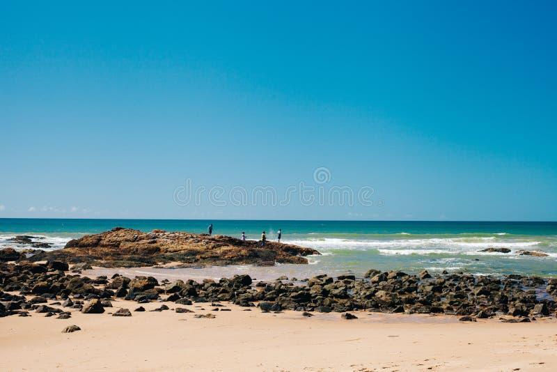 Rockowy połów zdjęcie stock