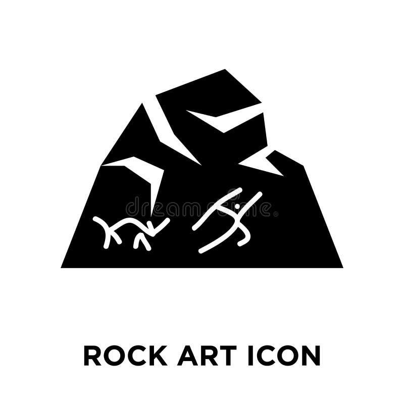 Rockowy sztuki ikony wektor odizolowywający na białym tle, loga pojęcie ilustracji