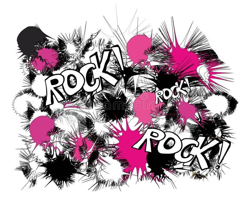 Rockowych menchii czarny i biały wzór ilustracji