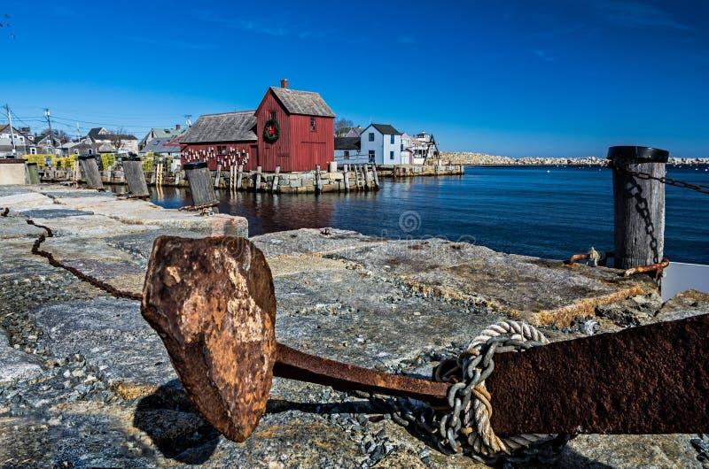 Rockport港口视图  免版税库存图片
