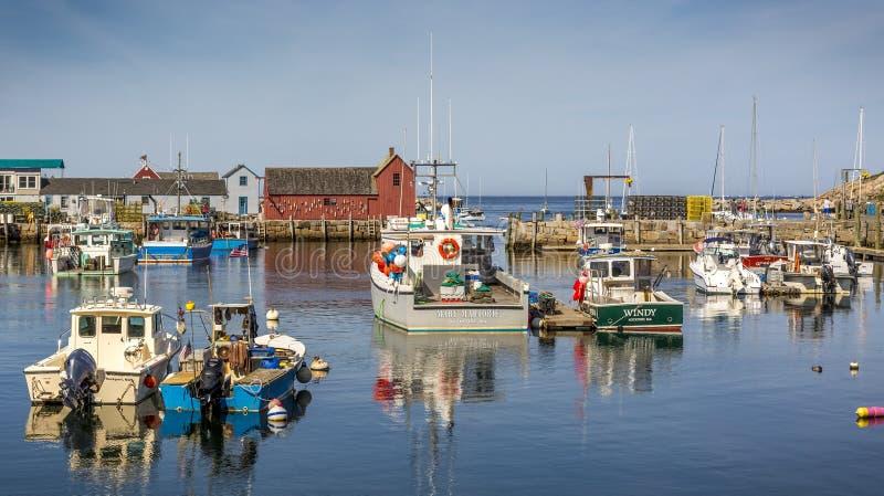 Rockport dans le Massachusetts, Etats-Unis images libres de droits