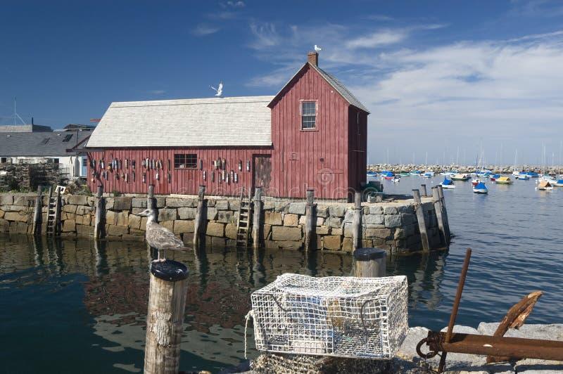 Rockport Hafen stockfotos