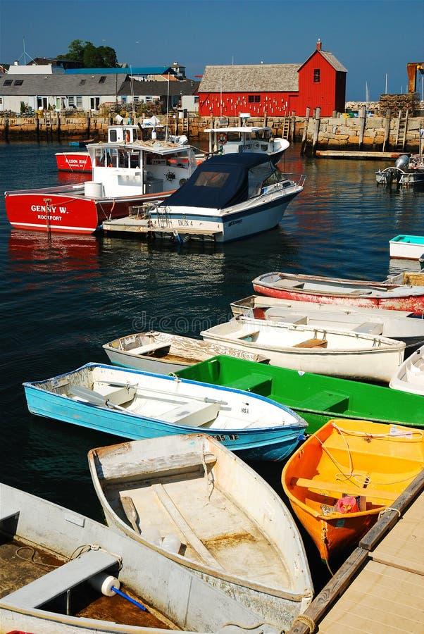 Rockport-Hafen lizenzfreie stockbilder