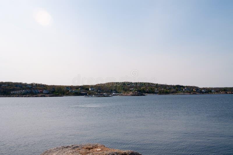Rockport, Massachusetts linia brzegowa w lecie obrazy stock