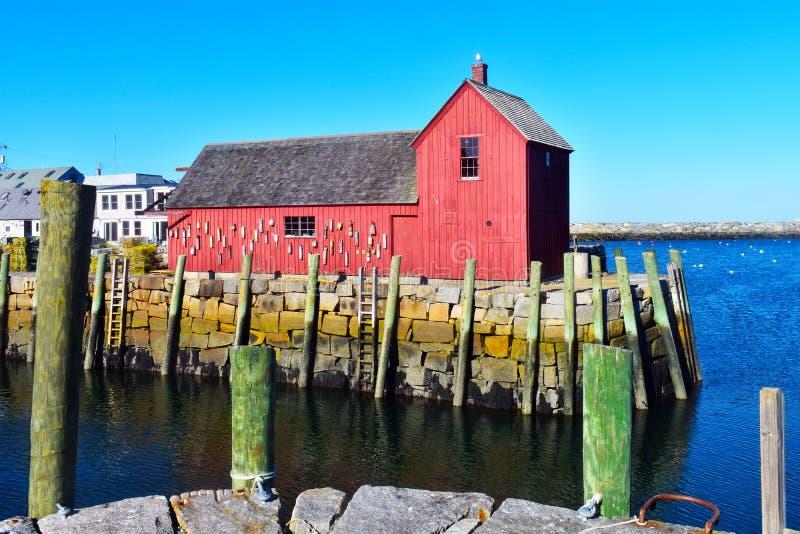 Rockport, NO1 de motif du Massachusetts - 6 de 7 image stock