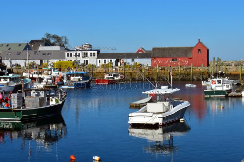 Rockport, NO1 de motif du Massachusetts - 3 de 7 photographie stock