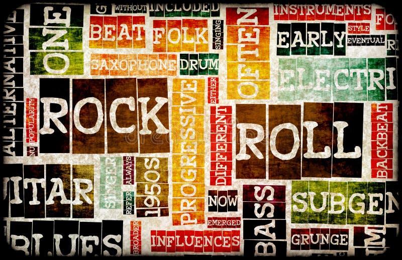 rockrulle royaltyfri illustrationer