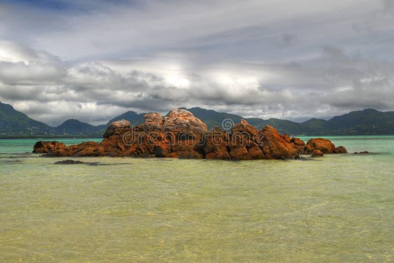 Rocks. HDR image of rocks near the Mahe island, Seychelles stock image