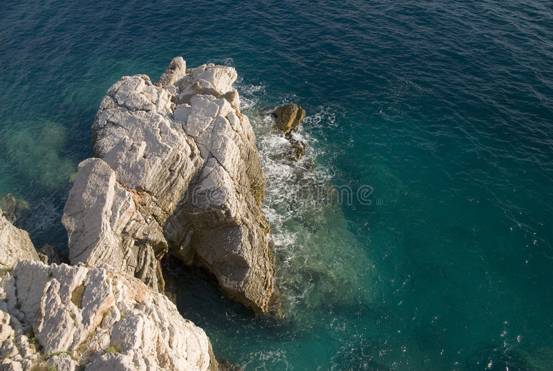 Download Rocks along seacoast stock image. Image of blue, high - 3194953