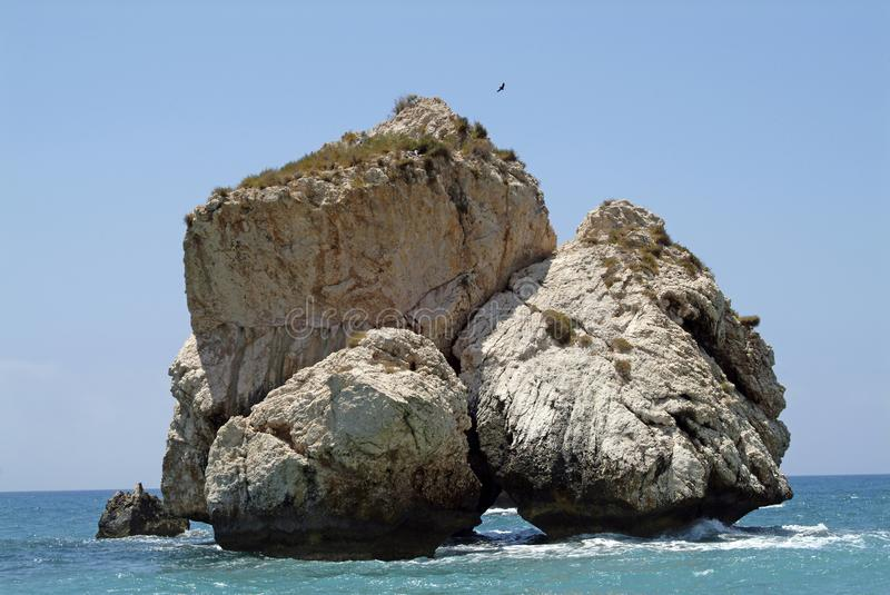 The Rocks of Aphrodite, on the Mediterranean Island of Cyprus royalty free stock images
