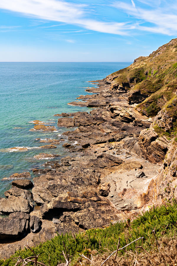 Download Rocks On Atlantic Coast In Normandy Stock Image - Image of french, grass: 27617929