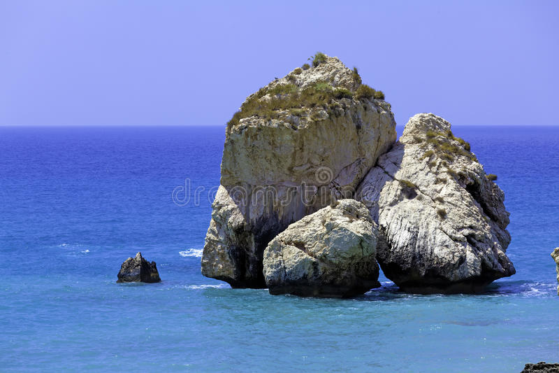 Rocks av aphroditen, Paphos, Cypern royaltyfria foton