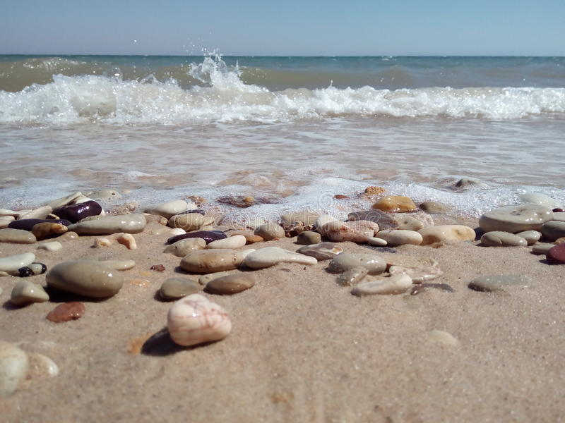 Rocks beach royalty free stock photo