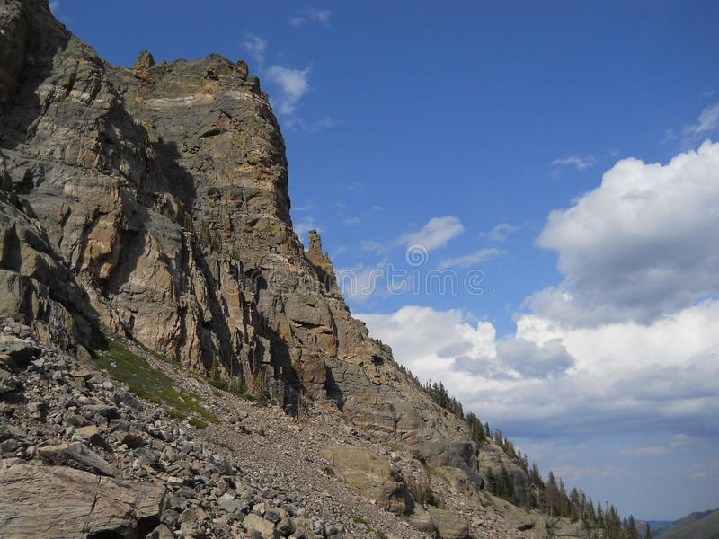 Rocks and Blue Sky in Rocky Mountain National Park, Colordado royalty free stock images
