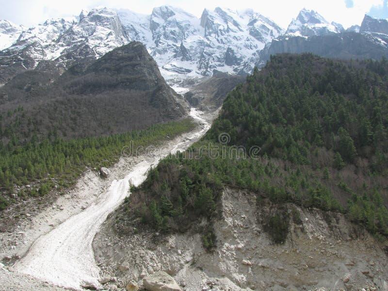 Rocks Broken By Glacial Activity Into Soil Royalty Free Stock Photos