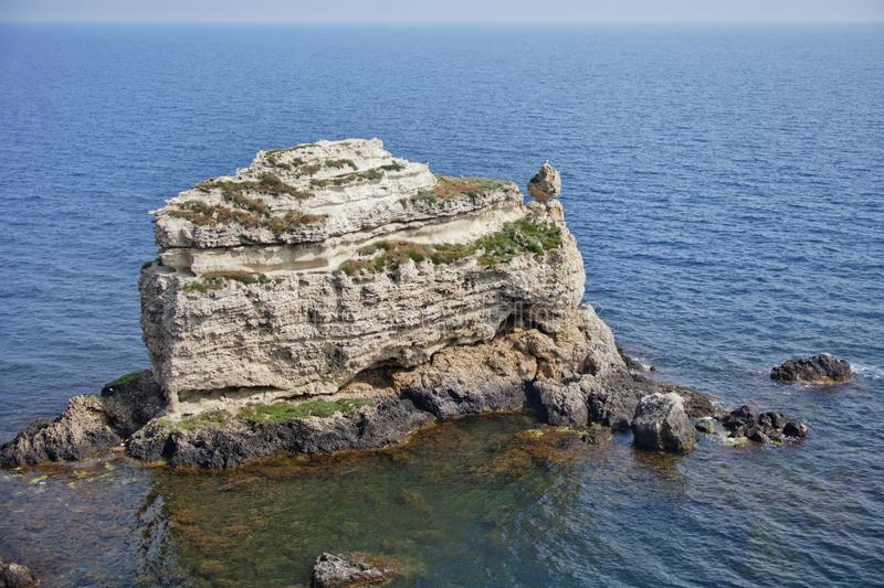 Rocks of cape Tarhankut. Crimea landscape. Rocks of cape Tarhankut in Crimea. Summer landscape royalty free stock images