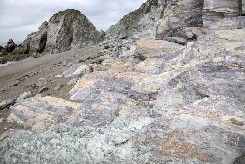 Rocks on Carro Beach; Galicia royalty free stock photo