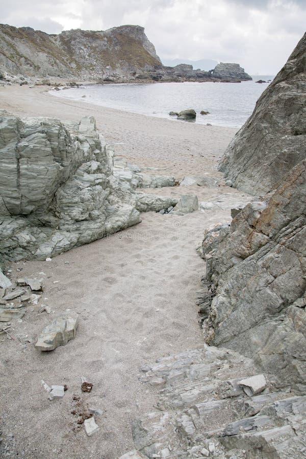 Rocks on Carro Beach; Galicia stock photo