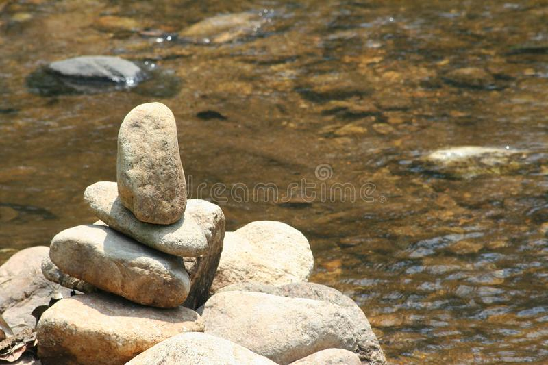 Rocks and clear stream. Close up rocks and clear stream royalty free stock photo