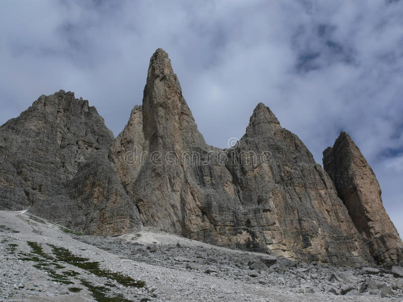 Rocks in the Dolomite stock photography