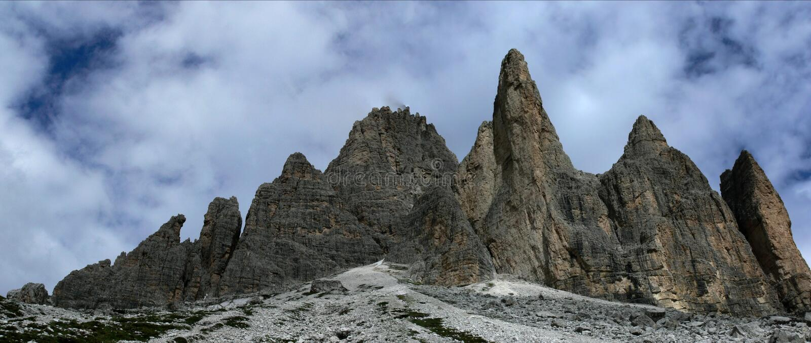 Rocks in the Dolomite royalty free stock images