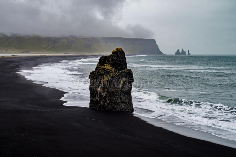 Rocks of Dyrholaey. In Iceland royalty free stock photography