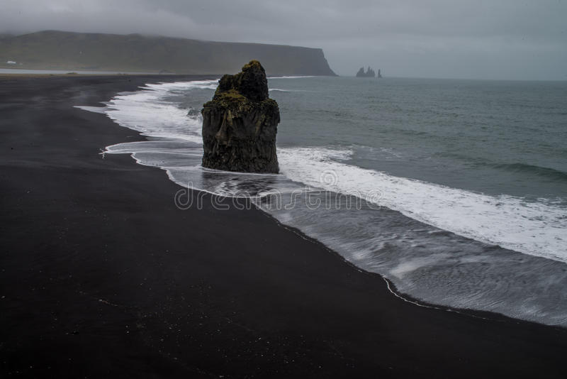 Rocks of Dyrholaey. In Iceland royalty free stock photos
