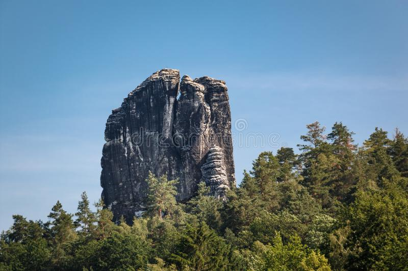 Rocks in the Elbe Sandstone Mountains in Saxon Switzerland. Germany royalty free stock photos