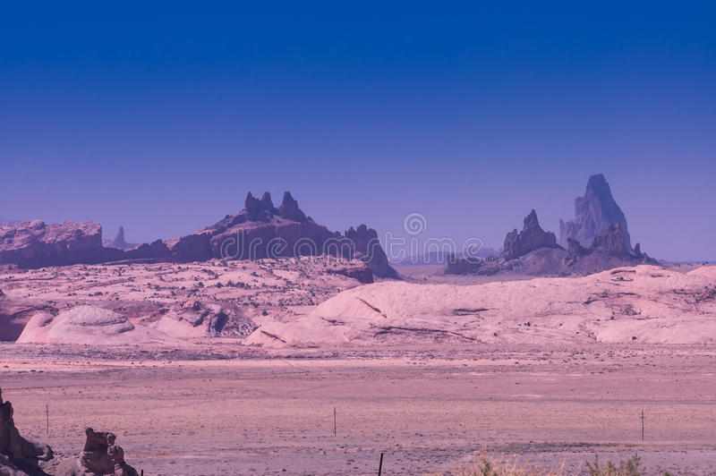 Rocks formation on navajo land stock image