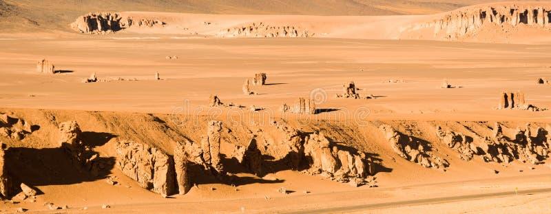 Rocks formation sculptured by the wind named Moais de Tara in the Altiplano, Atacama Desert, Chile. Rocks formation sculptured by the wind named Moais de Tara in stock images