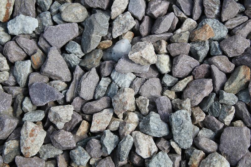 Rocks on the ground stock image