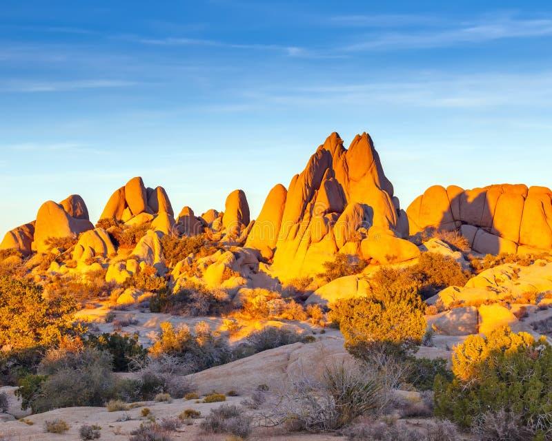Rocks i nationalpark för Joshua Tree arkivfoton