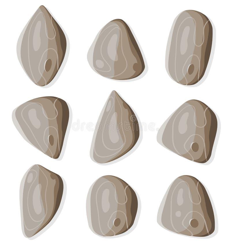rocks inställda stenar vektor illustrationer