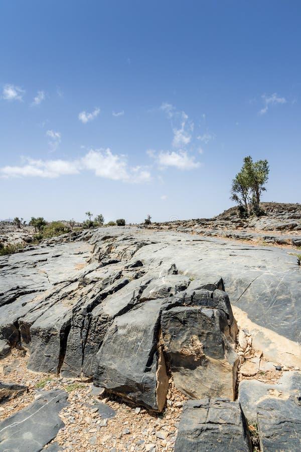 Rocks Jebel Shams royalty free stock images