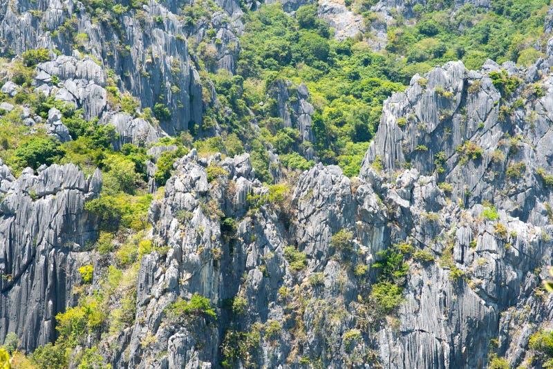 Rocks of Khao Sam Roi Yot National Park. Rock formations of a mountain in Khao Sam Roi Yot National Park, Prachuap Khiri Khan, Thailand near Hua Hin. On the way royalty free stock photography