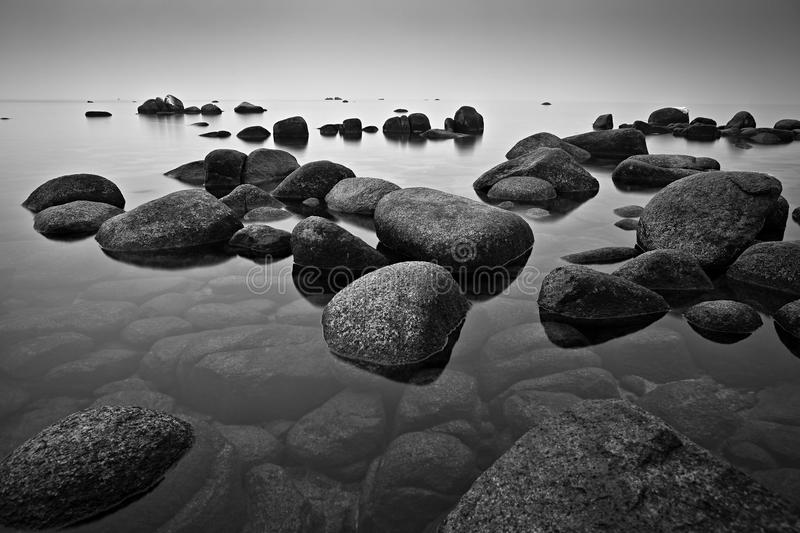 Rocks in Lake royalty free stock images