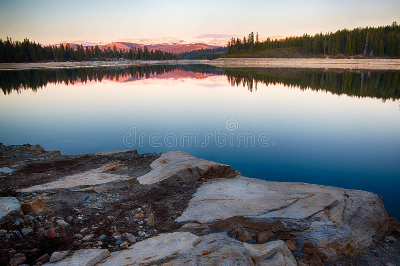 Rocks in Lake stock photo