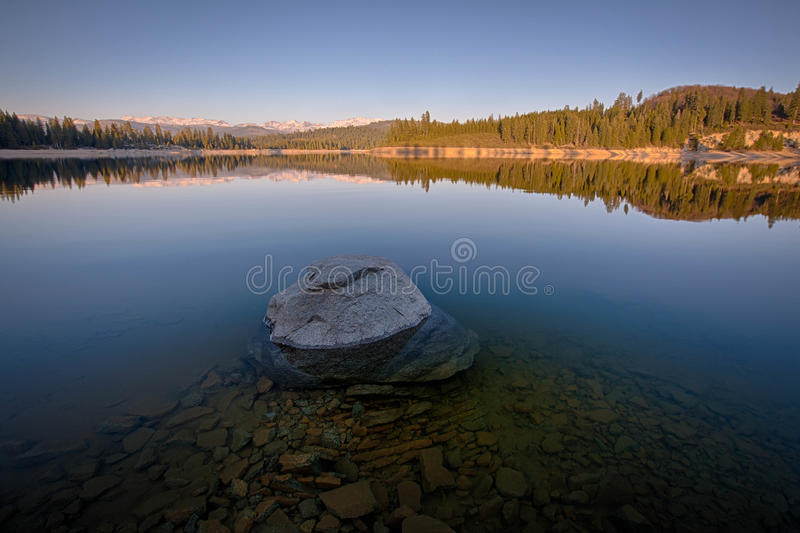 Rocks in Lake royalty free stock photography
