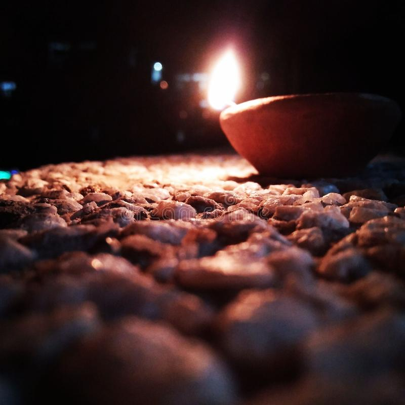 Rocks and lamps royalty free stock photo