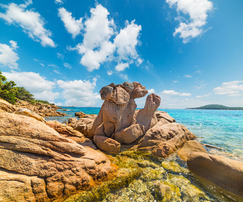 Rocks in Liscia Ruja. Sardinia stock photos