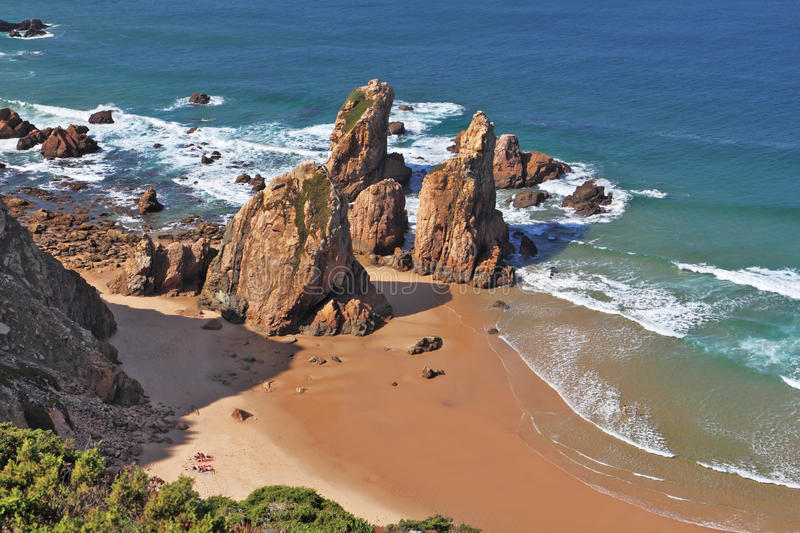 Download The Rocks On A Lonely Beach Of Atlantic Ocean Stock Image - Image: 21870969