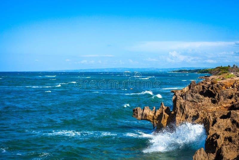 Rocks on Malecon Puerto Plata. Dominican Republic royalty free stock photos