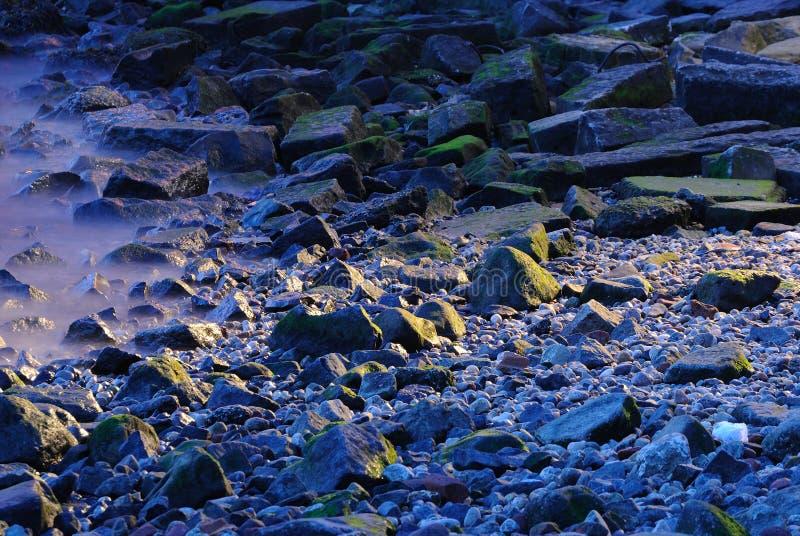 Rocks and Mist stock image