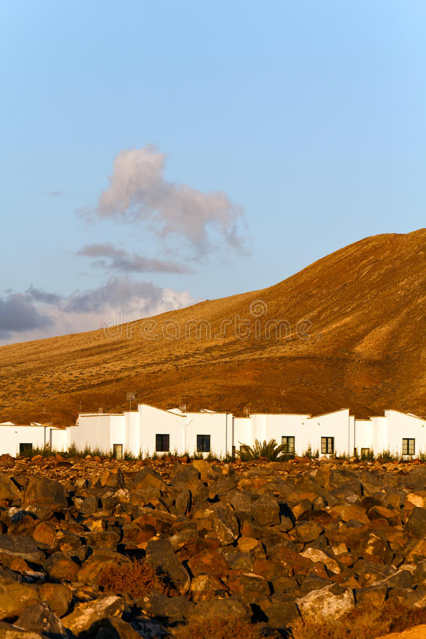 Rocks and Montana Baja,Lanzarote royalty free stock photo