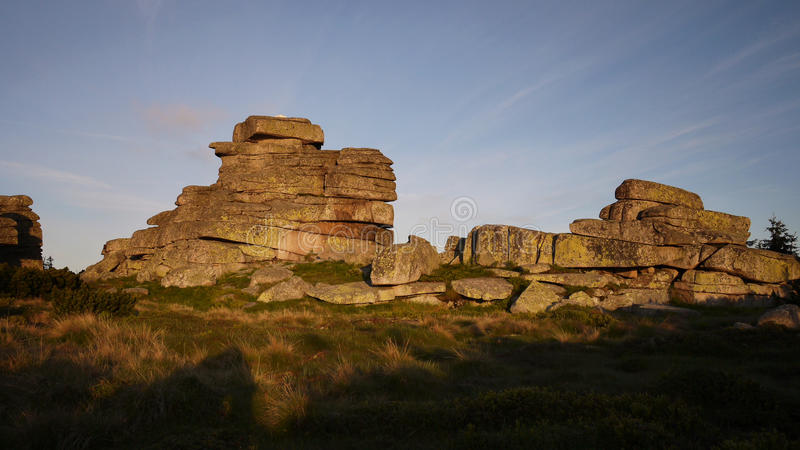Rocks in the morning sunshine. royalty free stock images