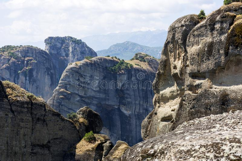 Rocks in the mountains of Thessaly, Greece, mountain landscape. Meteors, nature royalty free stock photo