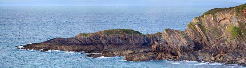 Rocks on the north coast of Devon. Hele Bay. Rocks on the north coast of Devon. England royalty free stock photo