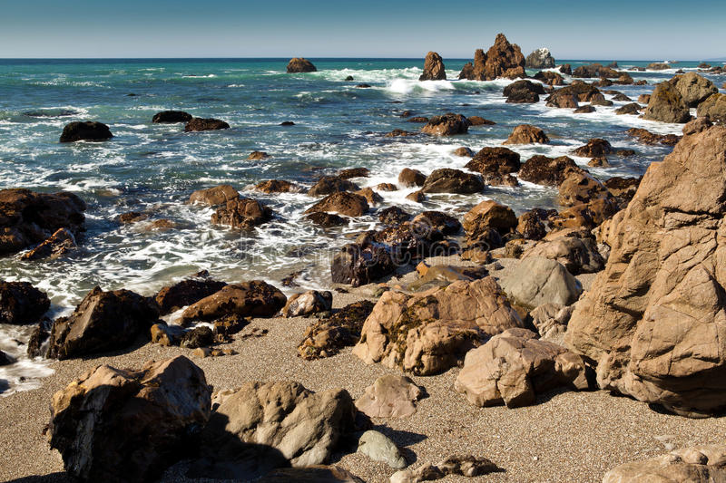 Rocks and Ocean royalty free stock photography