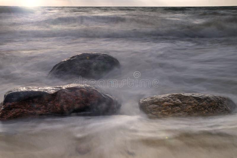 Rocks at ocean shore